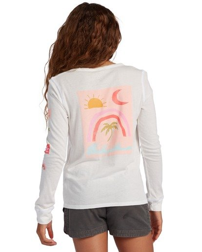 2 Girl's Daydreamer Long Sleeve T-Shirt White ABGZT00137 Billabong