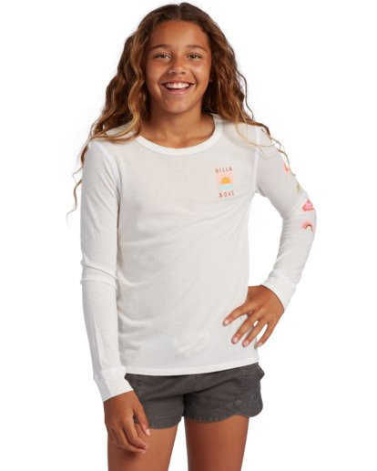 0 Girl's Daydreamer Long Sleeve T-Shirt White ABGZT00137 Billabong
