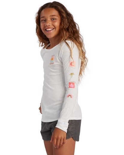 1 Girl's Daydreamer Long Sleeve T-Shirt White ABGZT00137 Billabong