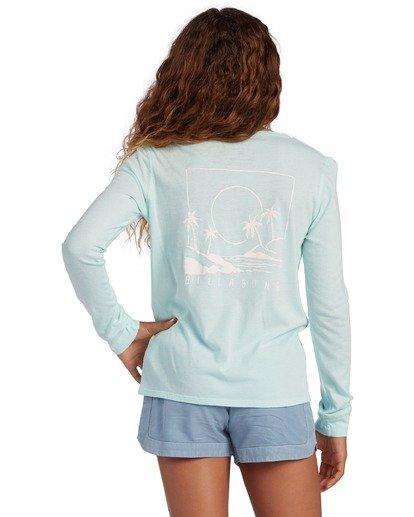 2 Girl's Warm Waves Long Sleeve T-Shirt Blue ABGZT00138 Billabong