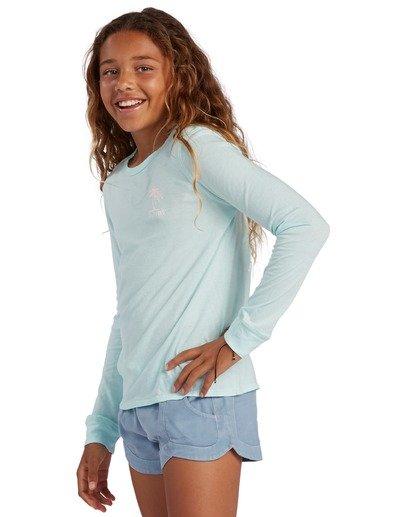 1 Girl's Warm Waves Long Sleeve T-Shirt Blue ABGZT00138 Billabong