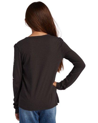 2 Girl's Good Vibes Long Sleeve T-Shirt Black ABGZT00139 Billabong