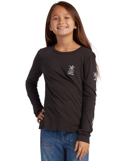 0 Girl's Good Vibes Long Sleeve T-Shirt Black ABGZT00139 Billabong