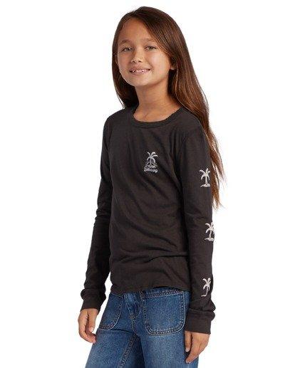1 Girl's Good Vibes Long Sleeve T-Shirt Black ABGZT00139 Billabong