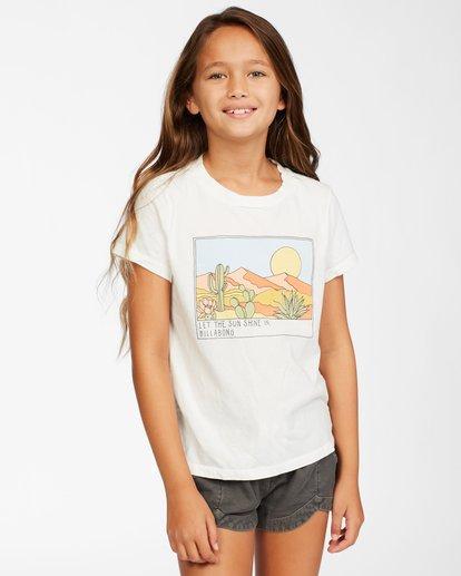 0 Girl's Sunny Skies T-Shirt White ABGZT00145 Billabong