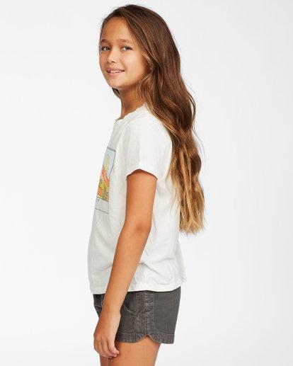 1 Girl's Sunny Skies T-Shirt White ABGZT00145 Billabong