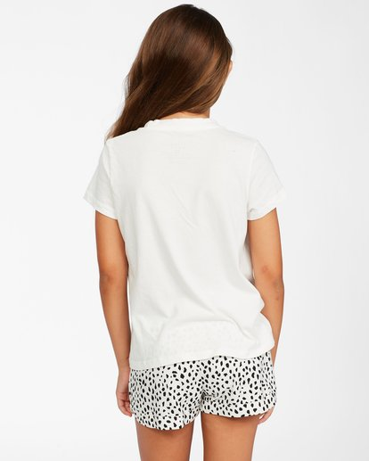 2 Girl's Wild Cat T-Shirt White ABGZT00149 Billabong