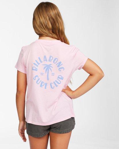 2 Girls' Surf Club T-Shirt Pink ABGZT00150 Billabong
