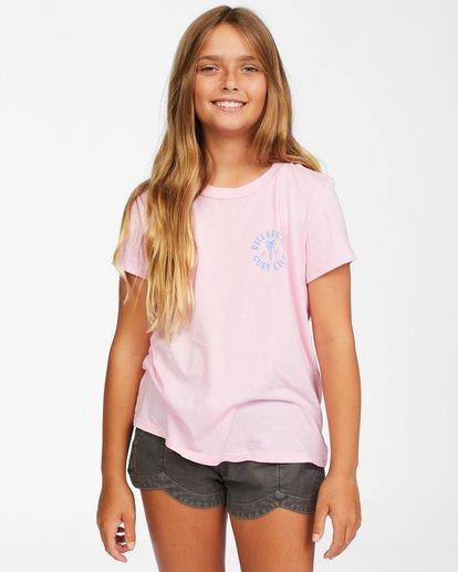 0 Girls' Surf Club T-Shirt Pink ABGZT00150 Billabong