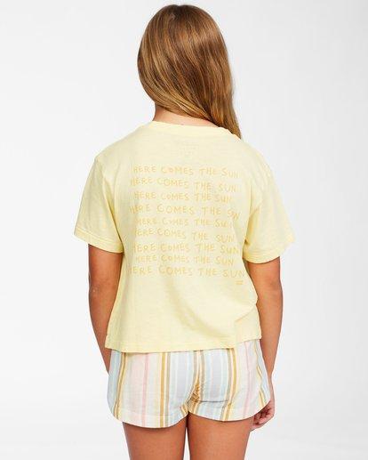 2 Girls' Here Comes The Sun T-Shirt Yellow ABGZT00152 Billabong