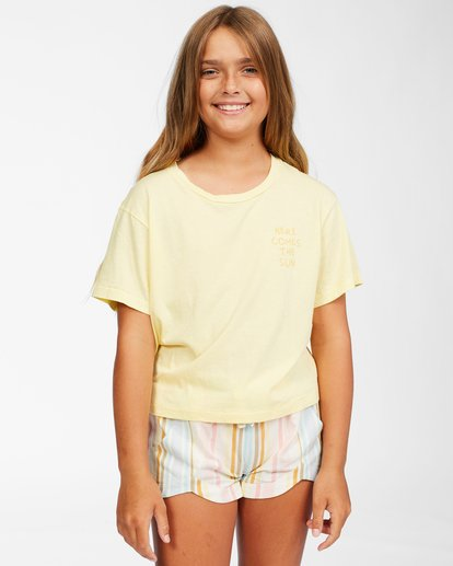 0 Girls' Here Comes The Sun T-Shirt Yellow ABGZT00152 Billabong