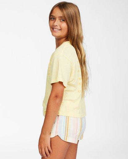 1 Girls' Here Comes The Sun T-Shirt Yellow ABGZT00152 Billabong