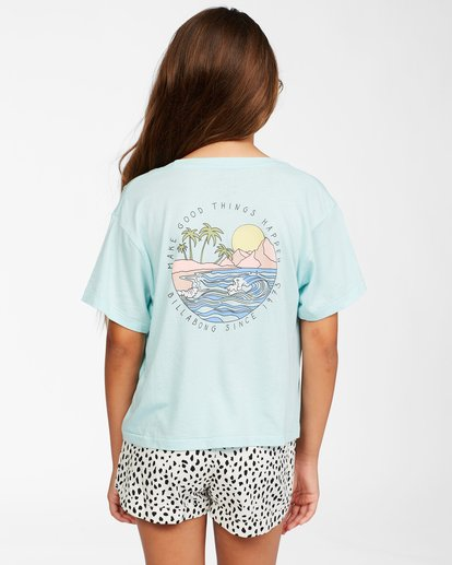 2 Girls' Good Things T-Shirt Blue ABGZT00153 Billabong