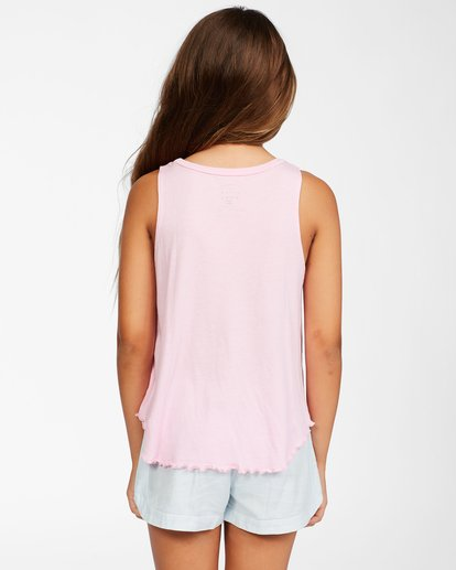 2 Girls' Go Surfing Tank Top Pink ABGZT00157 Billabong