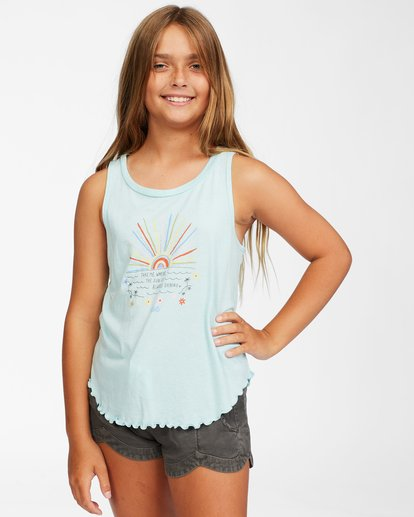 0 Girls' Always Shinning Tank Top Blue ABGZT00158 Billabong