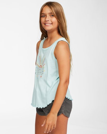 1 Girls' Always Shinning Tank Top Blue ABGZT00158 Billabong