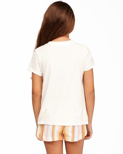 2 Girls' Living In Sunshine T-Shirt White ABGZT00160 Billabong