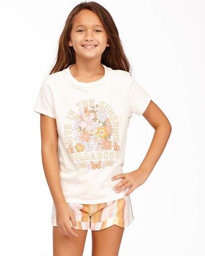 0 Girls' Living In Sunshine T-Shirt White ABGZT00160 Billabong