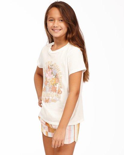 1 Girls' Living In Sunshine T-Shirt White ABGZT00160 Billabong