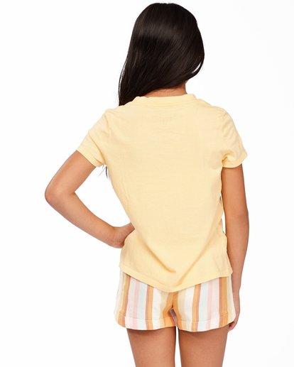 2 Girls' Heart Of Sunshine T-Shirt Yellow ABGZT00164 Billabong