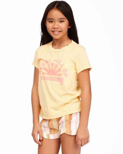 1 Girls' Heart Of Sunshine T-Shirt Yellow ABGZT00164 Billabong