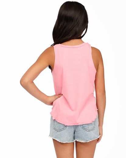 2 Girls' Surf Patrol Tank Top Pink ABGZT00171 Billabong