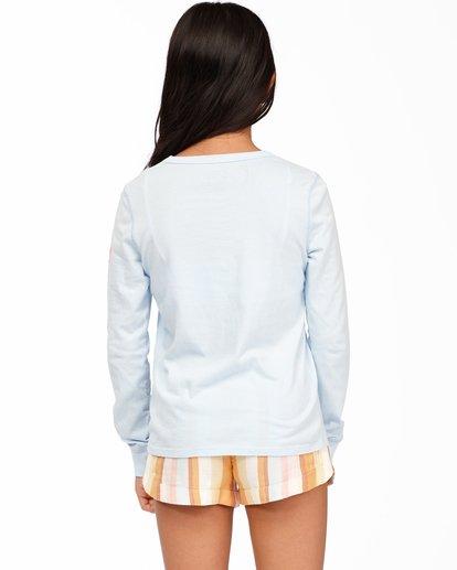 2 Girls' Hello Sunshine Long Sleeve T-Shirt Blue ABGZT00173 Billabong