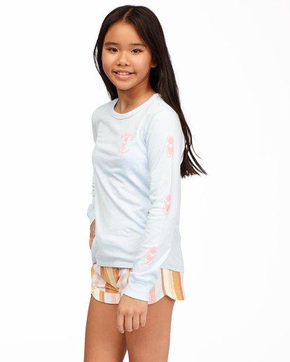 1 Girls' Hello Sunshine Long Sleeve T-Shirt Blue ABGZT00173 Billabong