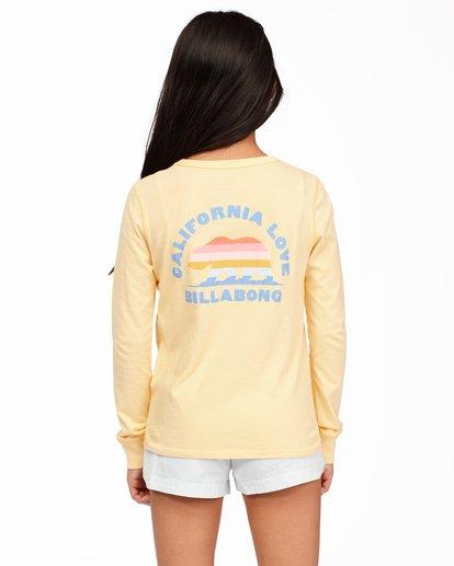 2 Girls' California Love Long Sleeve T-Shirt Yellow ABGZT00174 Billabong