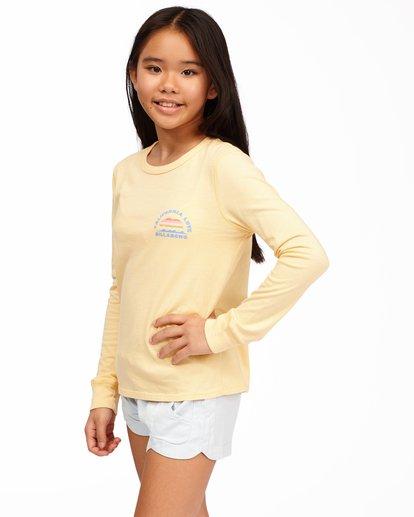 1 Girls' California Love Long Sleeve T-Shirt Yellow ABGZT00174 Billabong