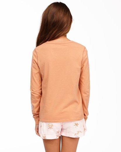 2 Girls' Sunny Palm Long Sleeve T-Shirt Brown ABGZT00175 Billabong