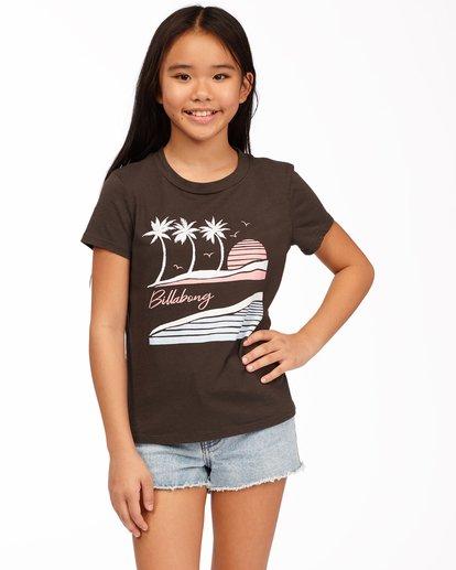 0 Girls' Vacation Postcard T-Shirt Black ABGZT00177 Billabong