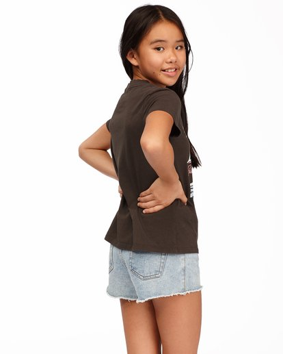 1 Girls' Vacation Postcard T-Shirt Black ABGZT00177 Billabong