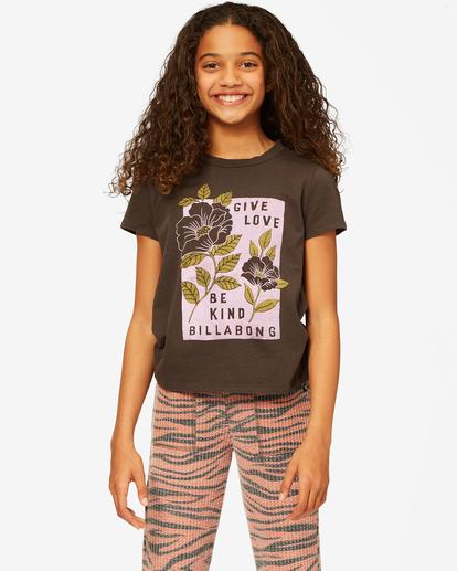 0 Girls' Give Love Boyfriend T-Shirt Black ABGZT00179 Billabong