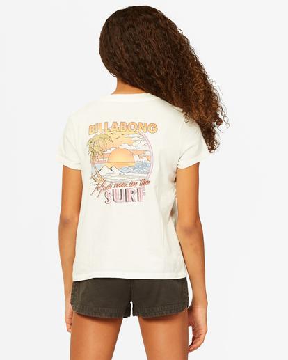 2 Girls' Meet Me In The Surf Boyfriend T-Shirt White ABGZT00185 Billabong