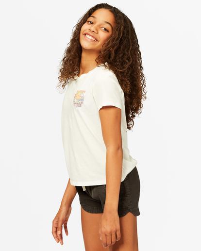 1 Girls' Meet Me In The Surf Boyfriend T-Shirt White ABGZT00185 Billabong