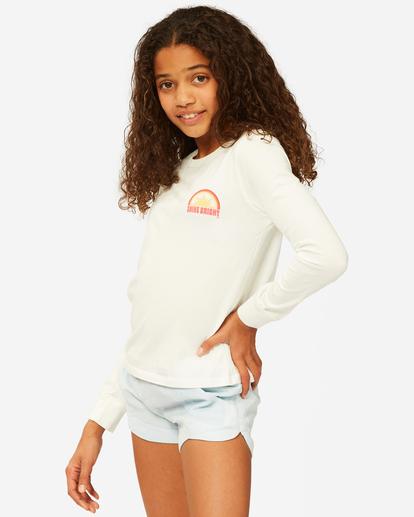 1 Girls' Shine Bright Long Sleeve T-Shirt White ABGZT00189 Billabong