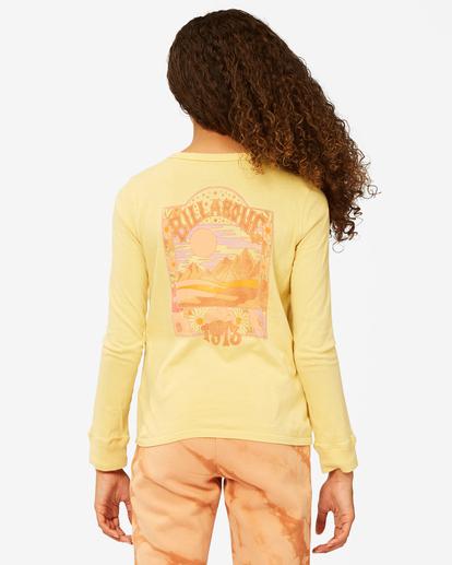2 Girls' Find Your Wild Long Sleeve Boyfriend T-Shirt Yellow ABGZT00190 Billabong