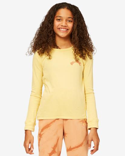0 Girls' Find Your Wild Long Sleeve Boyfriend T-Shirt Yellow ABGZT00190 Billabong