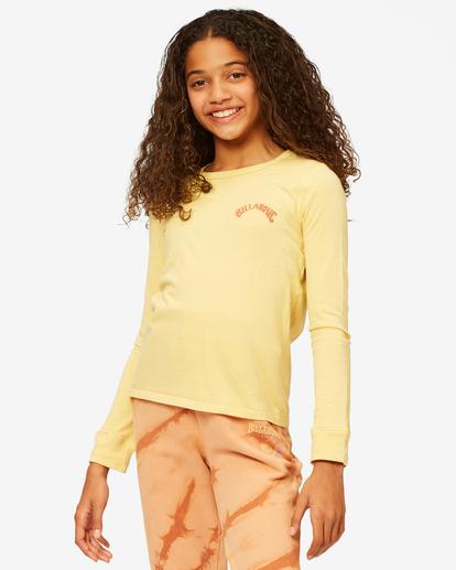 1 Girls' Find Your Wild Long Sleeve Boyfriend T-Shirt Yellow ABGZT00190 Billabong