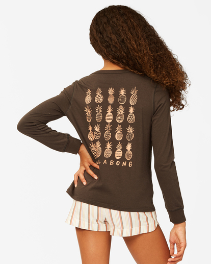 2 Girls' Sweet Paradise Long Sleeve T-Shirt Black ABGZT00191 Billabong