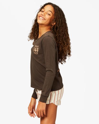 1 Girls' Sweet Paradise Long Sleeve T-Shirt Black ABGZT00191 Billabong