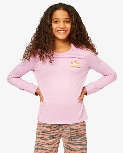0 Girls' Enjoy The Journey Long Sleeve Boyfriend T-Shirt Multicolor ABGZT00192 Billabong