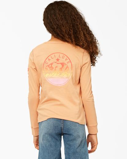 2 Girls' Welcome To California Long Sleeve T-Shirt Brown ABGZT00194 Billabong
