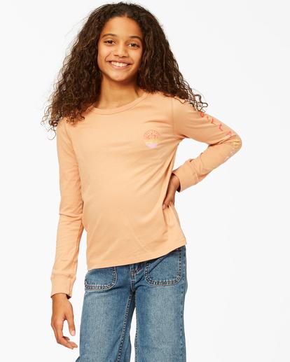 0 Girls' Welcome To California Long Sleeve T-Shirt Brown ABGZT00194 Billabong