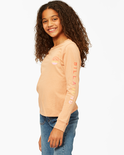 1 Girls' Welcome To California Long Sleeve T-Shirt Brown ABGZT00194 Billabong