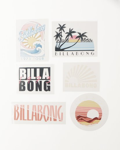 0 Sand And Sun Stickers White ABJAA00121 Billabong
