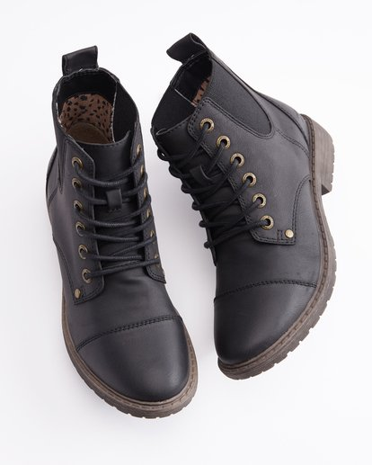 0 Willow Way 2 Lace-Up Boots Black ABJB700005 Billabong
