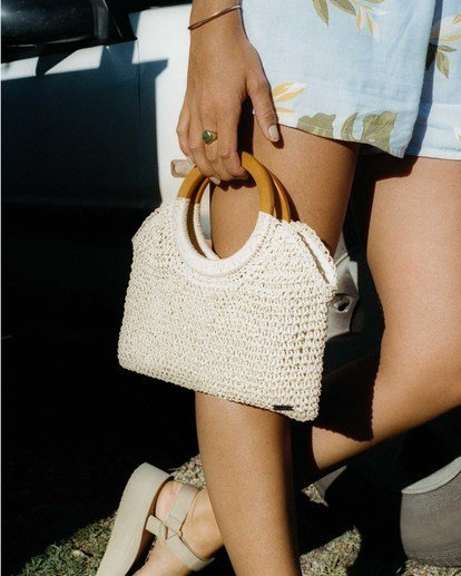 0 Little Lady Straw Clutch White ABJBP00110 Billabong