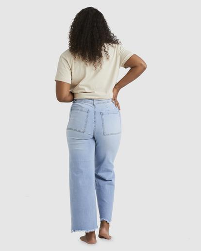 2 Free Fall Indigo High-Waist Pants White ABJDP00113 Billabong